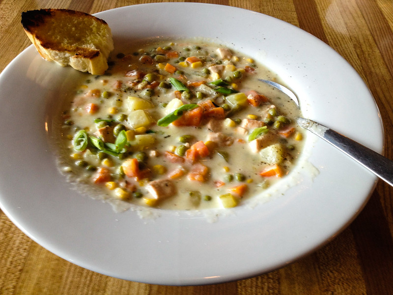 On a visit to Dawson City, enjoy a bowl of salmon chowder.