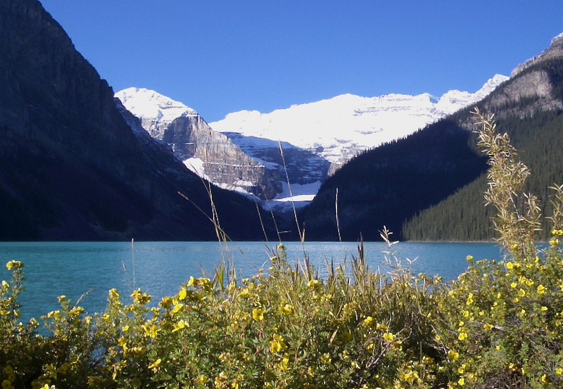 The glaciers at Lake Louise, Canada