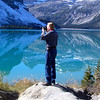 Alan Hull photographs at Bow Lake in the Canadian Rockies