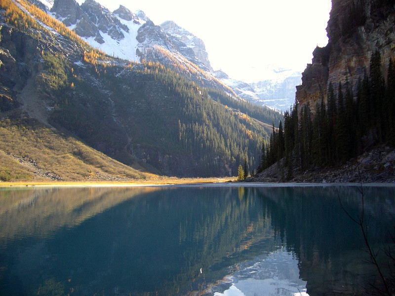 Upper end of Lake Louise