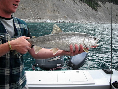 Fishing on Lake Minnewanka in Banff
