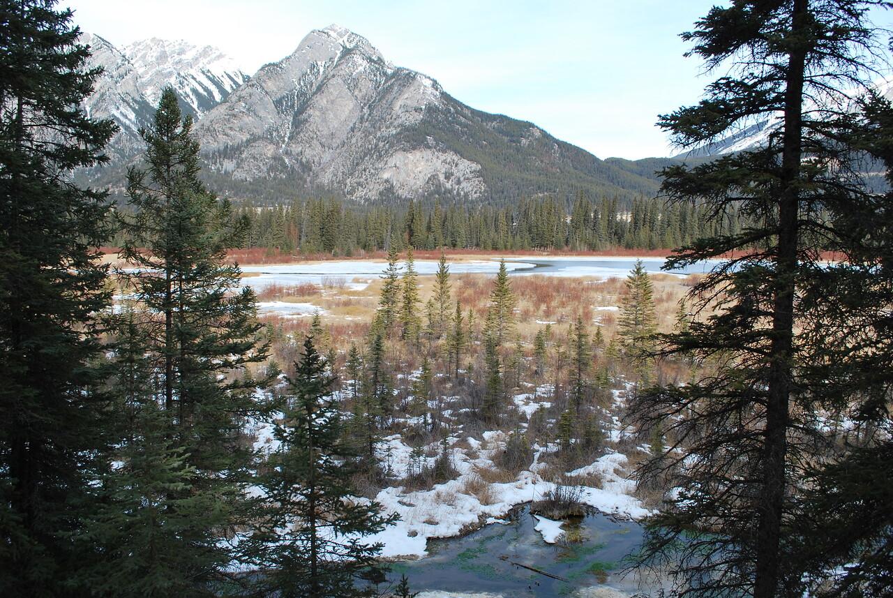 Views of the Basin at Banff National Park.