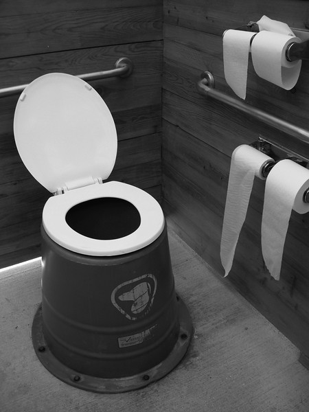 Outhouse toilets are not bad in Banff!!