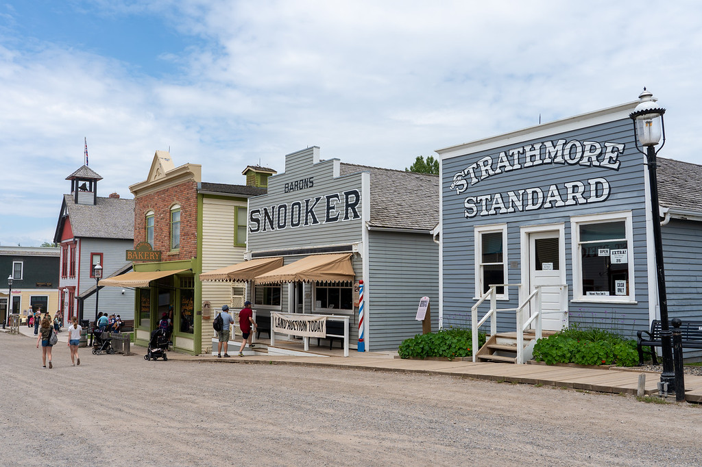 Railroad town at Heritage Park