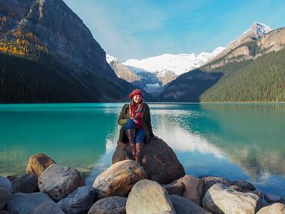 Amanda at Lake Louise
