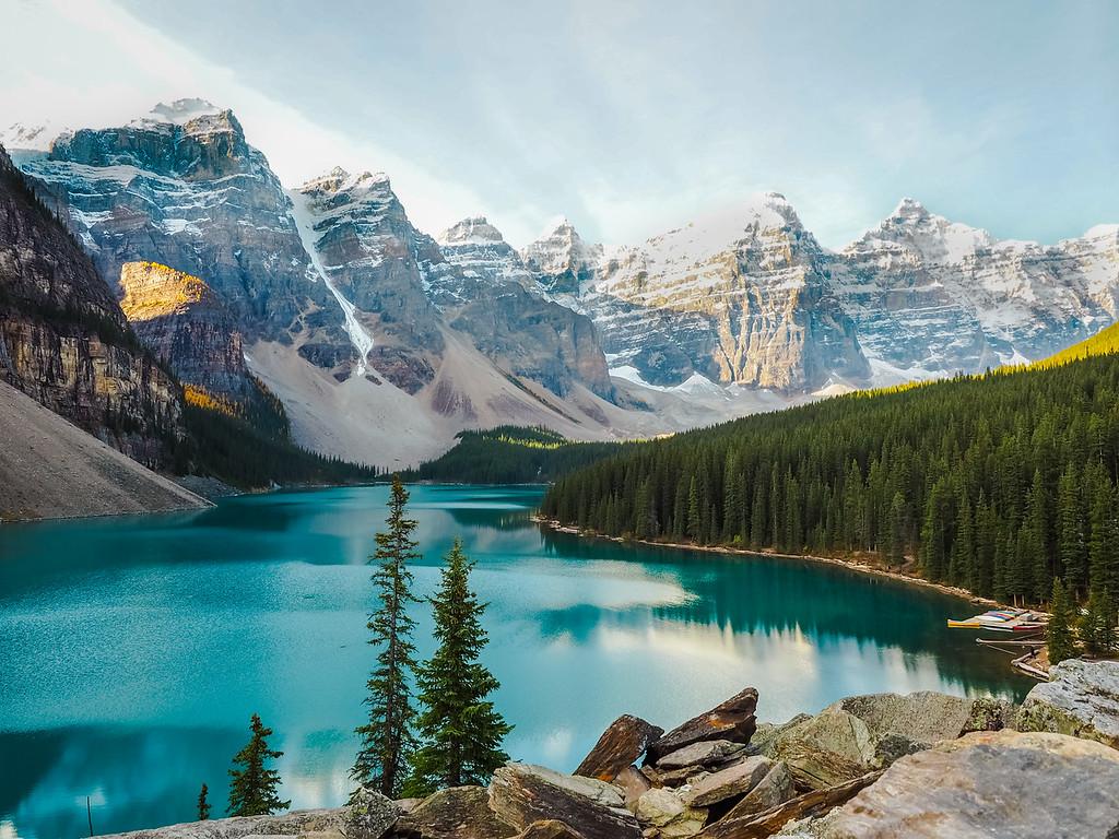 Moraine Lake in Alberta, Canada