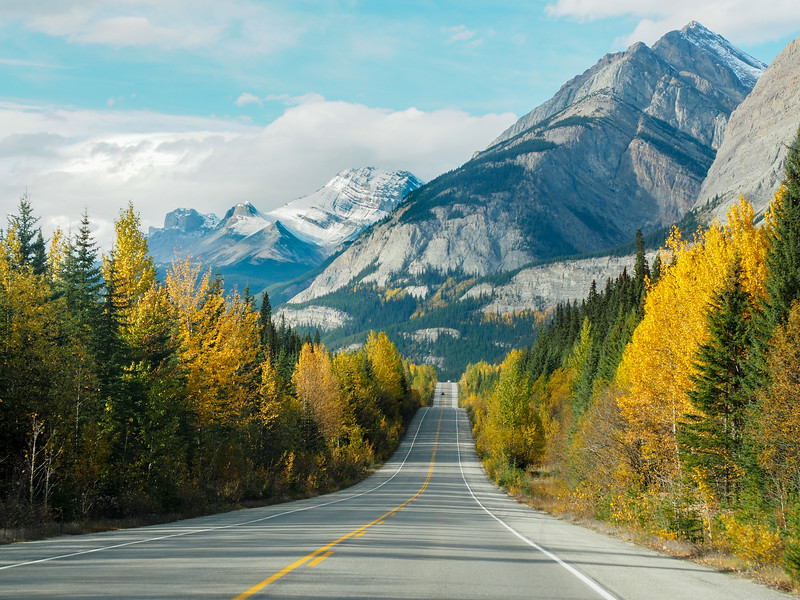 Icefields Parkway in Alberta, Canada