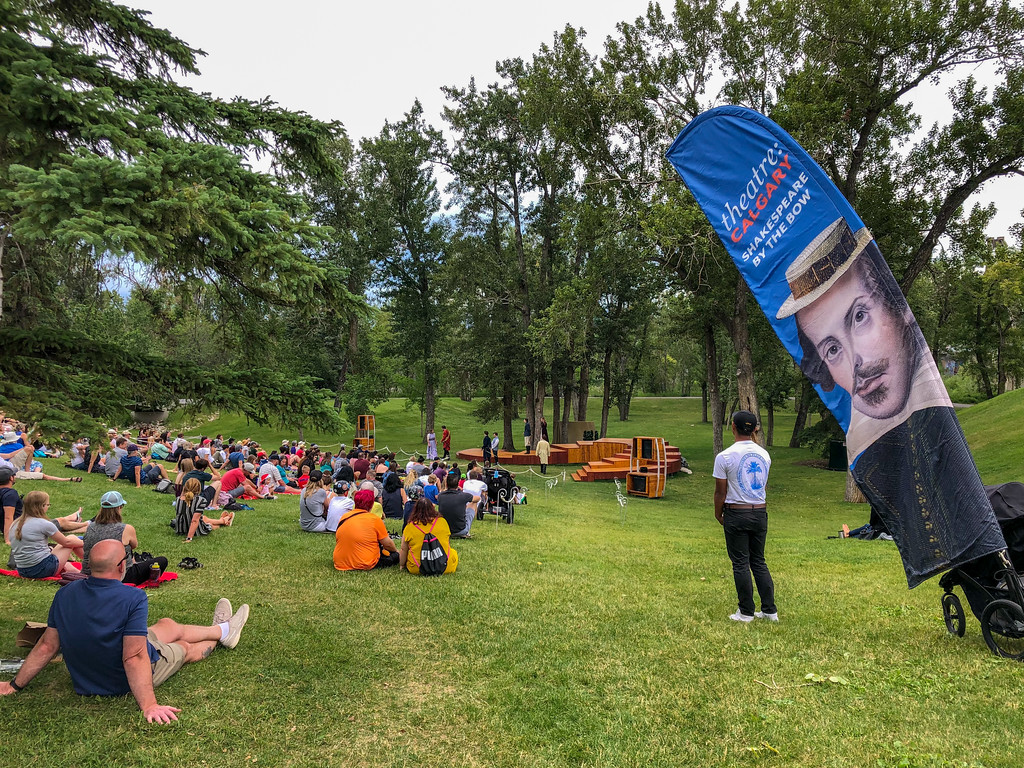 Outdoor Shakespeare play in Calgary