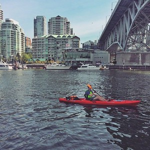 Kayaking in False Creek