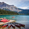 Canoes On Emerald Lake