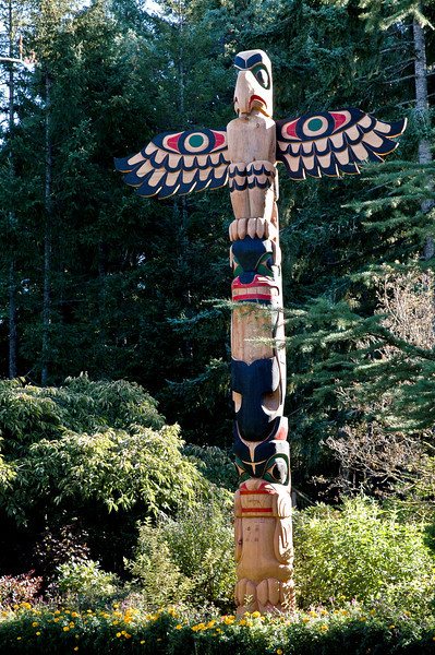 Totem pole, Victoria, Vancouver Island