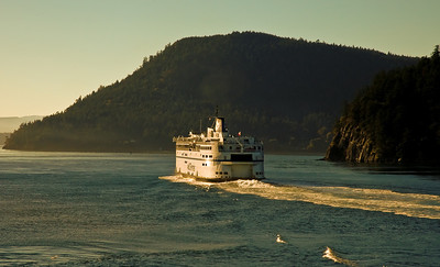 Ferryboat on the way to Nanaimo