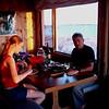 Anna and Bruce having dinner at Ducks Doom