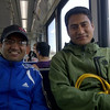 Friend Nirmal Regmi met them at the airport