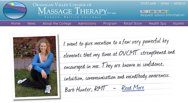 """This is the best massage therapy school in Canada  <a href=""""http://www.ovcmt.com/index.php/"""">http://www.ovcmt.com/index.php/</a>"""