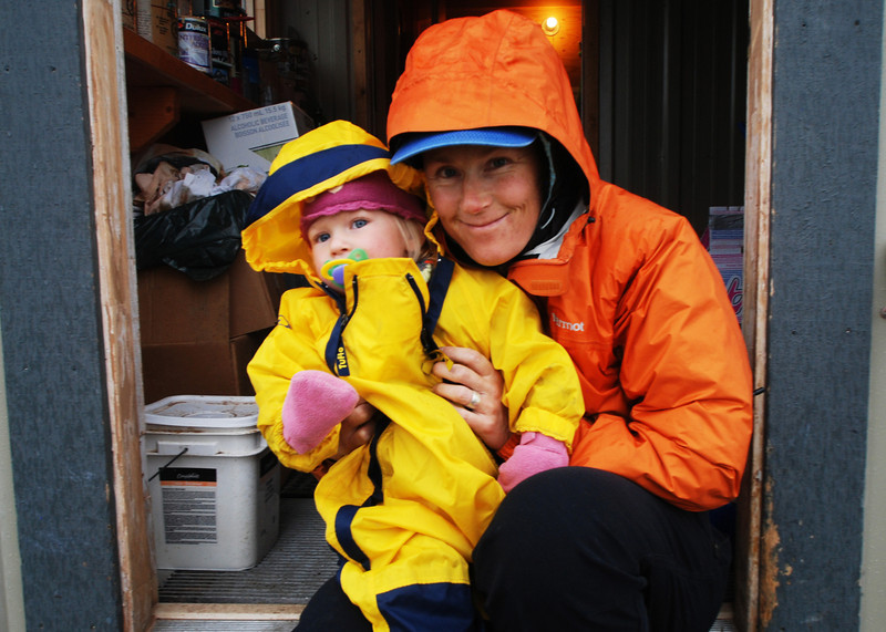Only a real mountain guide cold dress a kid this well in the mountains!