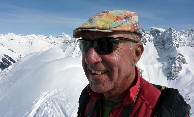 Luca Gasparini on the summit of East Peak