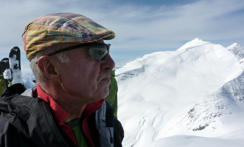 Luca looks back at ski descent of Alan Campbell