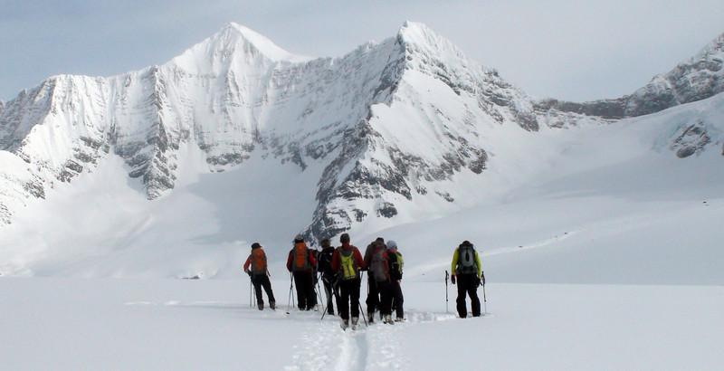 Crossing to Prior Glacier