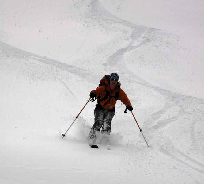 rare photo - poles touching the snow!