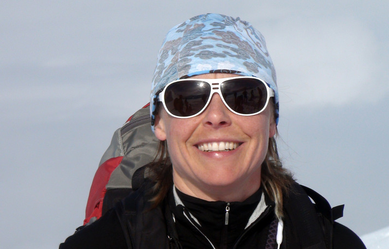 Shauna McGowan on arrival at Campbell Icefield Chalet