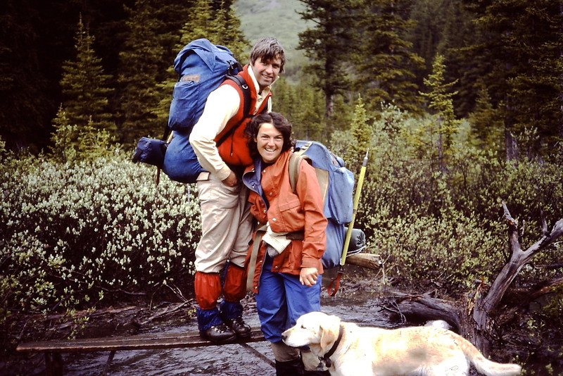 Bruce and Therese Roberts with dog 'Fingers'