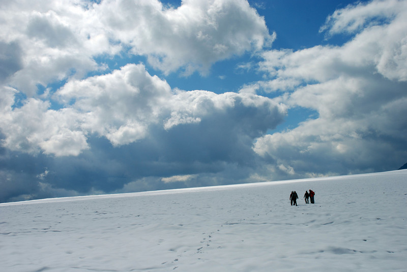 incredible cloud formations in the background as we traversed the ice