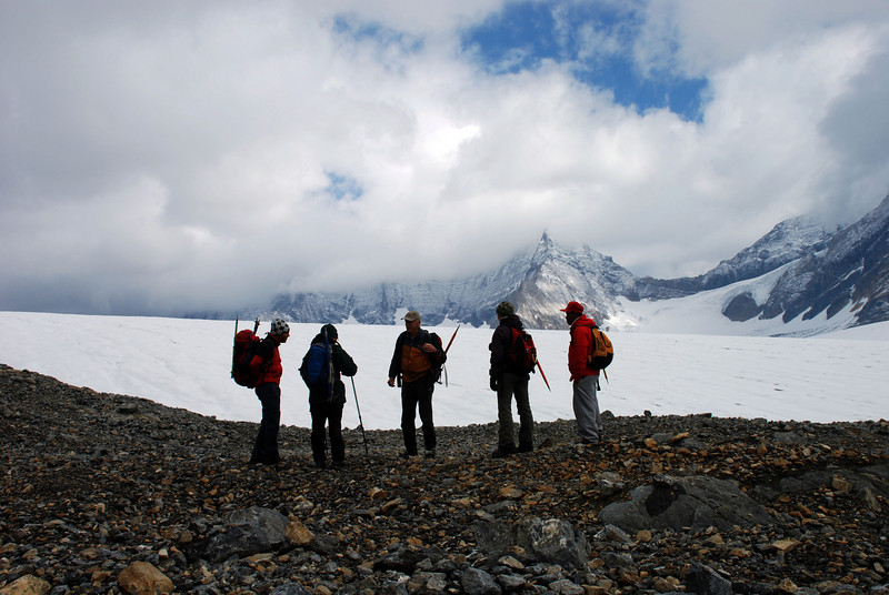 we arrived on the Icefields with a new fresh layer of snow