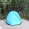 Camp site for tents at Lake O'Hara