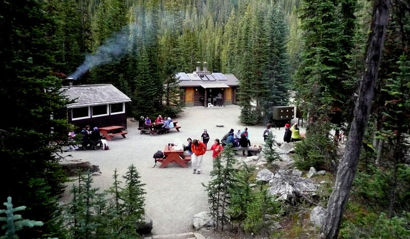View of campground in Lake O'Hara