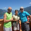 Francois, Evelyne and Bruce on Ferry