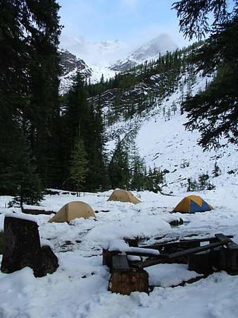 Tent city at Dr Creek