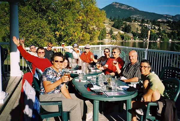 Final Beer and French Fries on Lake Invermere