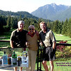 Bruce Roberts, Doug Russell and Brent Roberts after a great golf game on Capilano Golf Course<br /> May 18, 2006