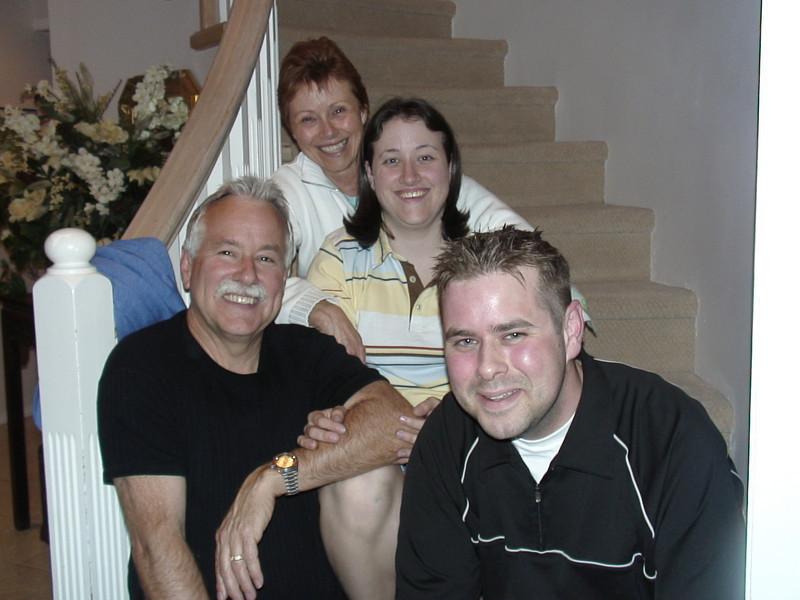 Trish, Caroline, Geoff and Stewart Russell - great family