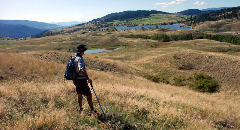hiking trip with views back into Predator