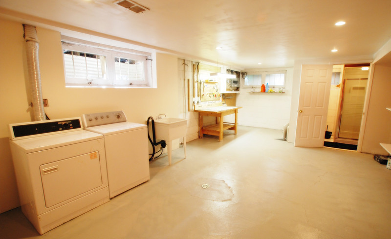 laundry room and work area