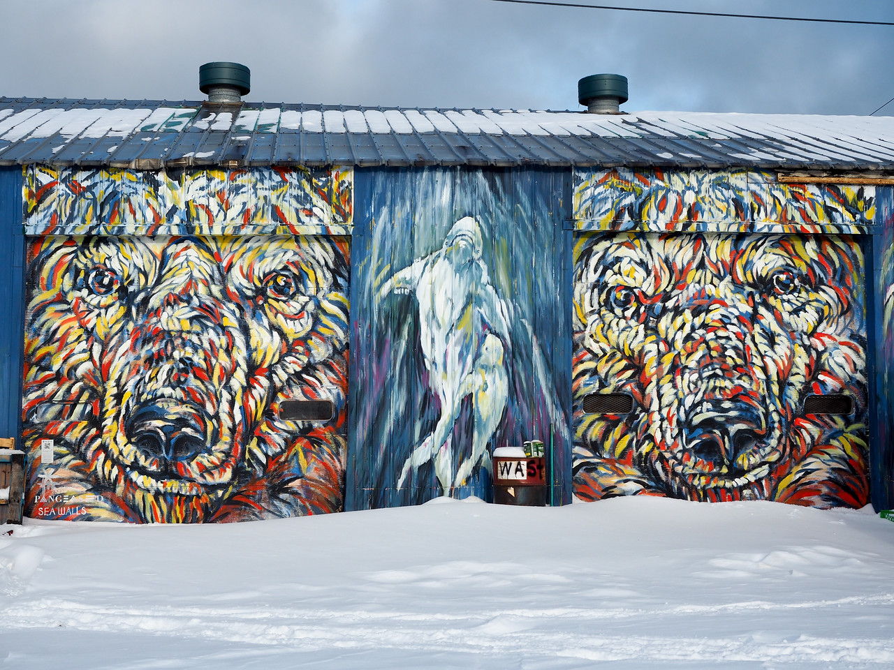 """""""Encounters at the End of the World"""" mural by Kelsey Eliasson"""