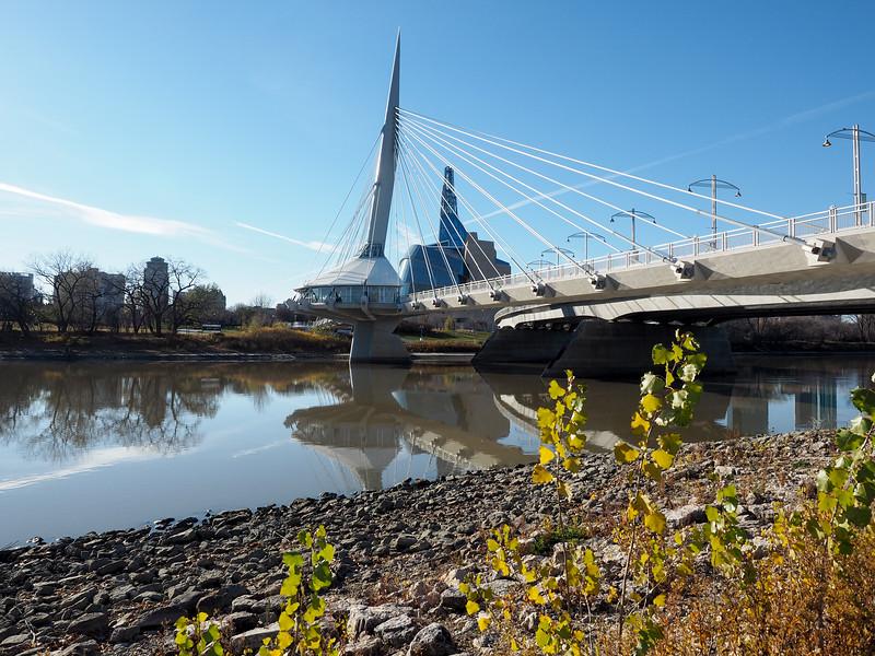 Esplanade Riel bridge in Winnipeg
