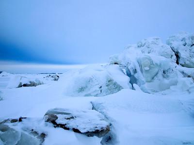 Churchill River in winter
