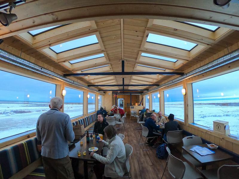 Tundra Buggy Lodge lounge