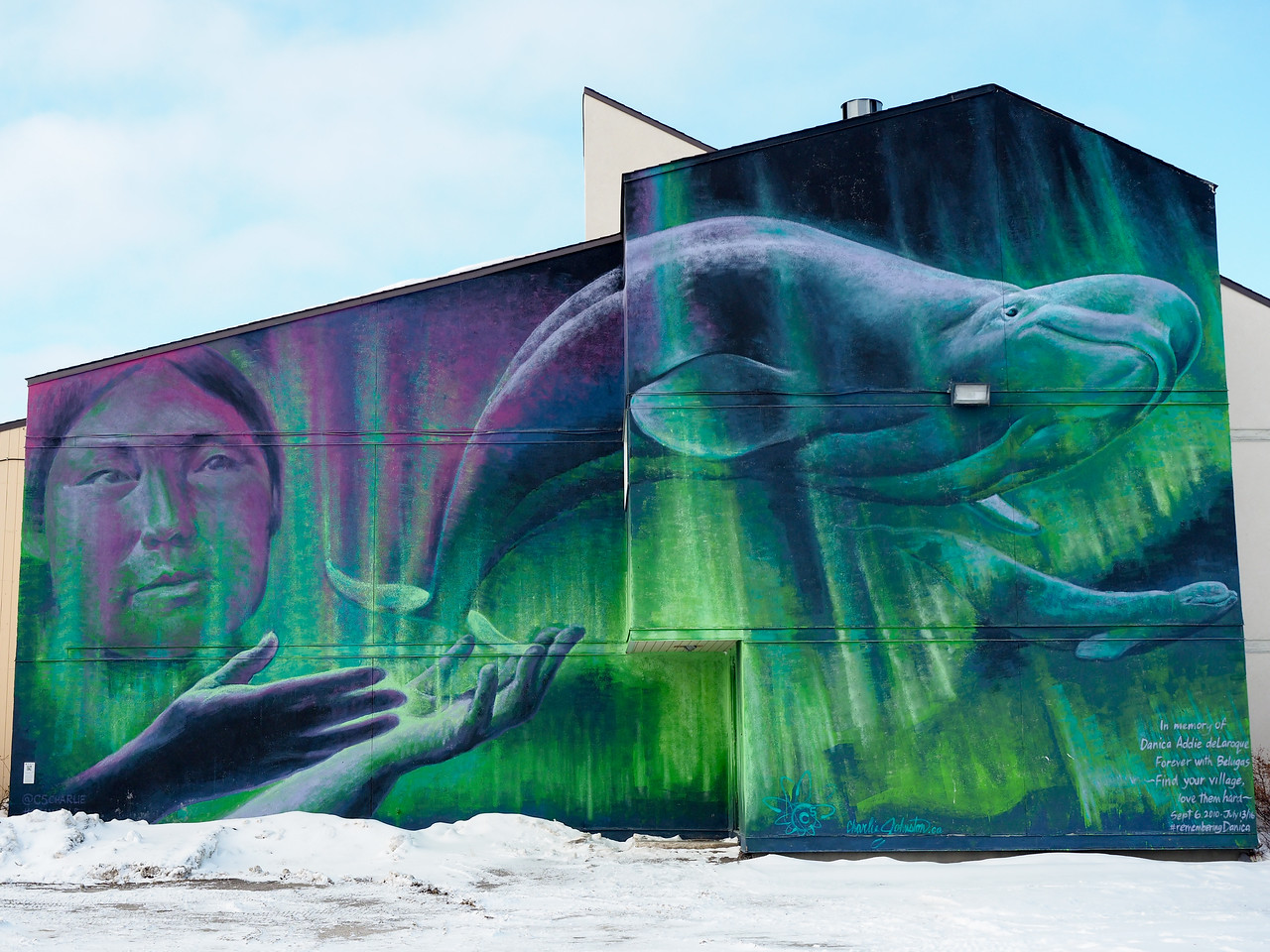 """""""We Swim in the Same Waters"""" mural by Charles Johnston"""