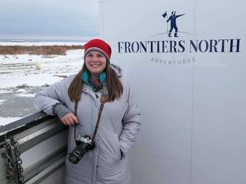 Watching polar bears in Manitoba