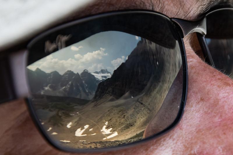 Sentinel Pass trail reflection