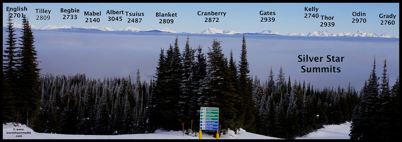 These are the main summits from the top of the Comet chair.
