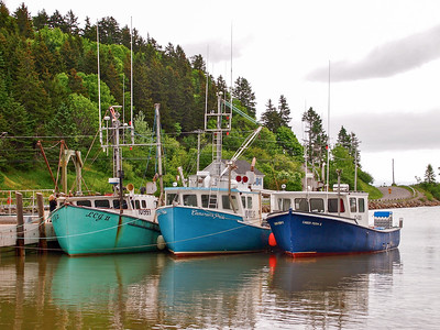 Boats in St. Martins, New Brunswick