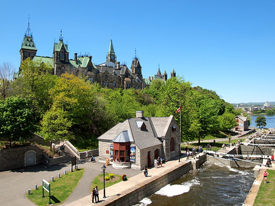 Rideau Canal and Parliament Hill in Ottawa