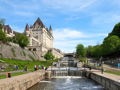 Rideau Canal locks in Ottawa