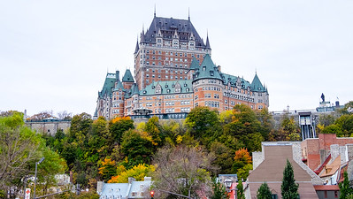 Château Frontenac in autumn
