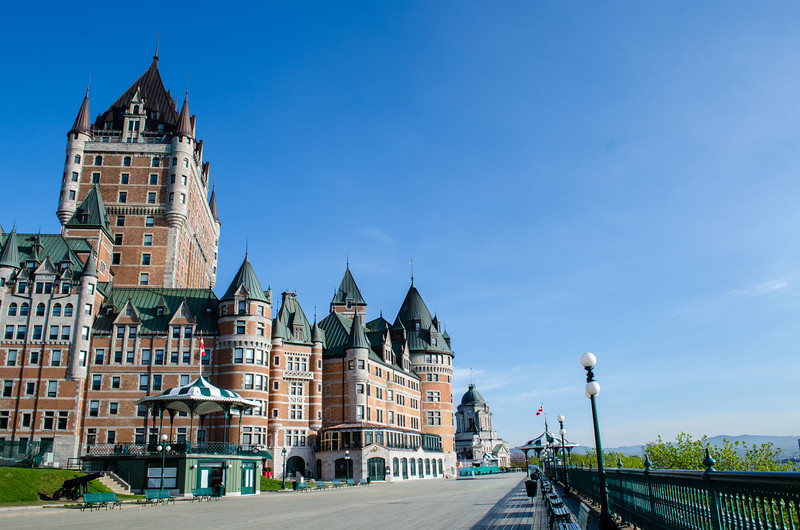 Chateau Frontenac in the early morning hours, before the crowds of tourists show up.